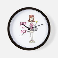KISS MY ACE Wall Clock
