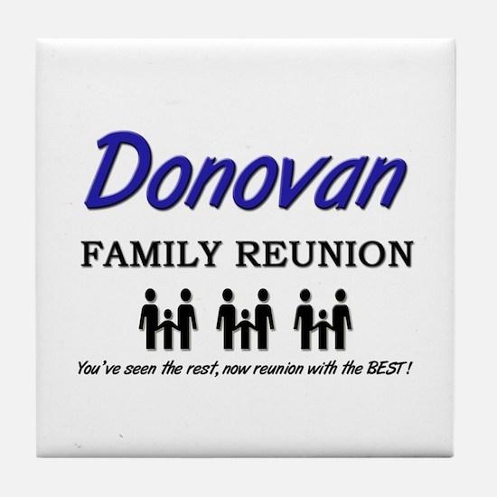 Donovan Family Reunion Tile Coaster
