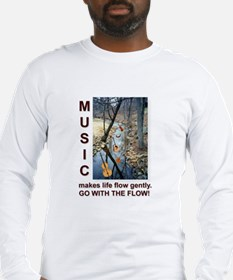 Violin Banjo Mando Fiddle Bass Long Sleeve T-Shirt