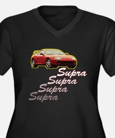 Newer supra Women's Plus Size V-Neck Dark T-Shirt