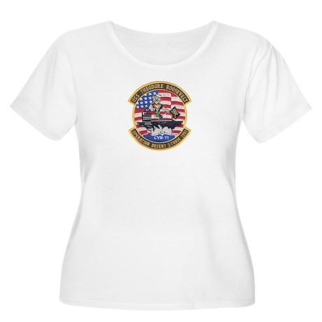 USS Roosevelt Desert Storm Women's Plus Size Scoop