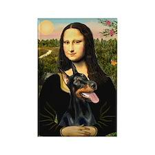 Mona Lisa's Dobie Rectangle Magnet