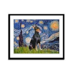 Starry Night Dobie Framed Panel Print