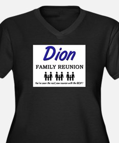 Dion Family Reunion Women's Plus Size V-Neck Dark