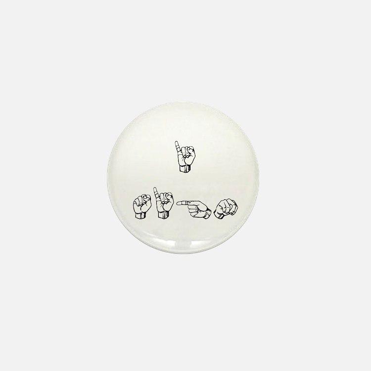 I Sign Mini Button