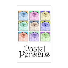 Pastel Persians Rectangle Decal