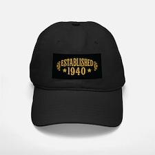 Established 1940 Baseball Hat
