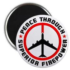 "Peace Through Superior Firepower 2.25"" Magnet (100"