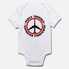 Peace Through Superior Firepower Infant Bodysuit