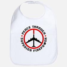 Peace Through Superior Firepower Bib