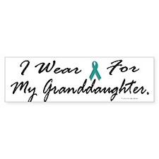I Wear Teal For My Granddaughter 1 Bumper Sticker