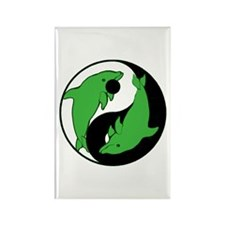 Yin Yang Dolphins 4 Rectangle Magnet