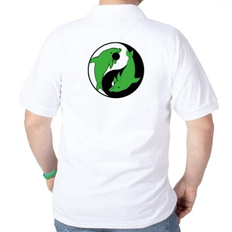 Yin Yang Dolphins 4 Polo Shirt