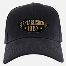 Established 1987 Baseball Hat