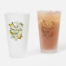 French Butterflies Drinking Glass