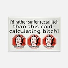 Hillary Rectal Itch Rectangle Magnet