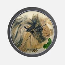 Chippy The Peruvian Long Haired Guinea  Wall Clock