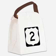 US Route 2 Canvas Lunch Bag