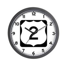 US Route 2 Wall Clock