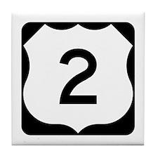 US Route 2 Tile Coaster