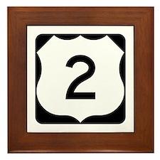 US Route 2 Framed Tile