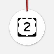 US Route 2 Ornament (Round)
