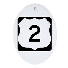 US Route 2 Ornament (Oval)