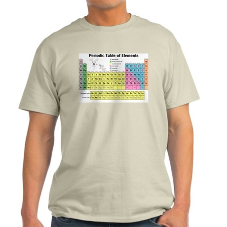 Periodic Table of Elements Light T-Shirt