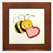 BEE WITH HEART Framed Tile