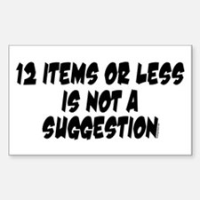12 Items Rectangle Decal