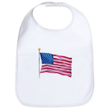 USA Flag Stars and Stripes Low Polygon Bib