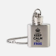 Funny Keep calm frog Flask Necklace