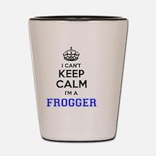 Funny Keep calm frog Shot Glass