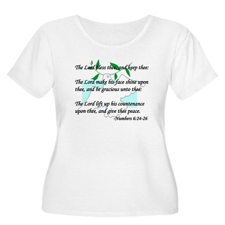 """Lord Bless Thee"" Women's Plus Size Scoop Neck Tee"