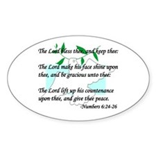 """Lord Bless Thee"" Oval Decal"