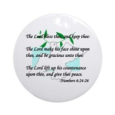"""""""Lord Bless Thee"""" Ornament (Round)"""