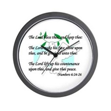 """""""Lord Bless Thee"""" Wall Clock"""
