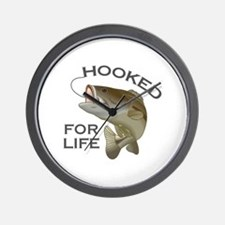 HOOKED FOR LIFE Wall Clock