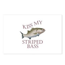 KISS MY STRIPED BASS Postcards (Package of 8)