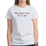 I Love My Girlfriend (cheap) Women's T-Shirt