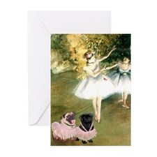 Degas Dancers & Pug Pair in Tutu Cards (set of 6)