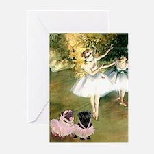 Degas Dancers & Pug Pair in Tutu Cards (set of 6)