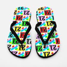 21st Butterfly Flip Flops