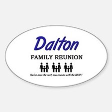 Dalton Family Reunion Oval Decal