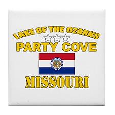 Ozarks Party Cove Tile Coaster
