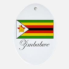 Zimbabwe - Flag Oval Ornament