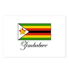 Zimbabwe - Flag Postcards (Package of 8)