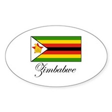 Zimbabwe - Flag Oval Decal