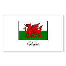 Wales - Flag Rectangle Bumper Stickers