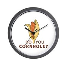 DO YOU CORNHOLE Wall Clock